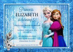 Items similar to Frozen Birthday Invitation on Etsy Frozen Birthday Invitations, Disney Frozen Birthday, Ice Castles, Birthdays, Disney Princess, Disney Characters, Handmade Gifts, Etsy, Ideas