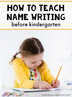 This simple strategy to practice name writing will help your child be ready for kindergarten! The post has links to other name activities, too.