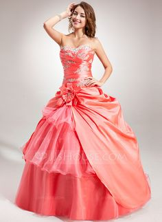 Quinceanera Dresses - Ball-Gown Sweetheart Floor-Length Taffeta Organza Quinceanera Dress With Embroidered Ruffle Beading Flower(s) (021004684) http://jjshouse.com/Ball-Gown-Sweetheart-Floor-Length-Taffeta-Organza-Quinceanera-Dress-With-Embroidered-Ruffle-Beading-Flower-S-021004684-g4684?ver=xdegc7h0