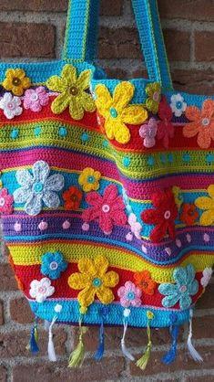 Crochet Gifts, Cute Crochet, Vintage Crochet, Knit Crochet, Crochet Handbags, Crochet Purses, Crochet Stitches, Diy Bags Patterns, Bag Patterns