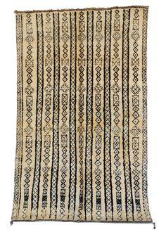 Tribe: Beni Ouarain Code: B177 Size: 6'2×9'3 Fiber: Wool Pile: Short Condition…
