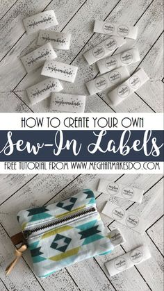 Easy 50 sewing hacks tips are offered on our internet site. look at this and you wont be sorry you did. Quilt Labels, Fabric Labels, Fabric Tags, Sewing Hacks, Sewing Tutorials, Sewing Tips, Sewing Ideas, Make Your Own Labels, Sewing Labels
