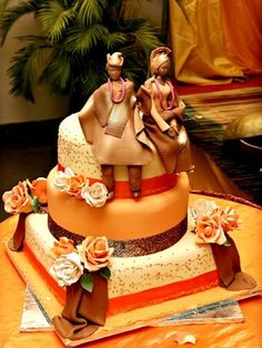 African wedding cake! Wow!!! ~Latest African Fashion, African women dresses, African Prints, African clothing jackets, skirts, short dresses, African men's fashion, children's fashion, African bags, African shoes ~DKK
