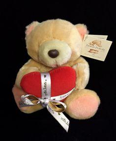 FOREVER FRIENDS Bear Hallmark Valentines Day Plush Teddy Bear Red Heart NWT HTF #Hallmark
