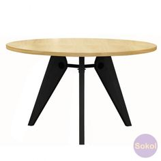 Replica Jean Prouve Gueridon Dining Table Round