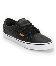 79d3046f5b Vans Chukka Black Peforated Leather Shoe Vans Chukka Low