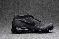 63807d8bc7c78 We Are Your Right Choice to get Top Brand Nike Air Max 2018 Flyknit Sports  Running Shoes Men Black Gray Outlet Sale
