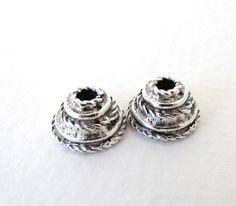 antiqued silver ox bead cap sea coral pewter nunn design 10mm bcp0045 2
