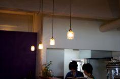 大阪府寝屋川 香里園 soupcafe MONさん。安土草多 ペンダントライト八角筒B