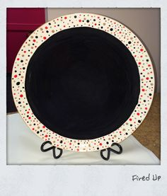 Dotty about dots on this plate!