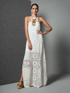 Bohemian maxi dress, boho style clothing, boho-chic clothes, gypsy summer long dress on boho boutique Trendy Dresses, Casual Dresses, Fashion Dresses, Summer Dresses, White Beach Dresses, Summer Outfits, White Dress, Long Dresses, Dress Long