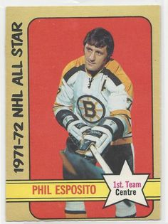 Phil Esposito1972-73 OPC Hockey Card # 230 Boston Bruins EX-MT