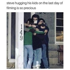 A loving father with his children