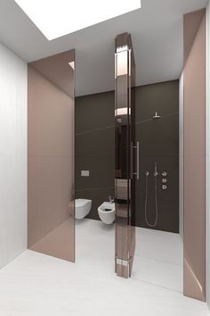 Rose gold glass doors, stunning