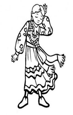Coloring pages of children wearing afo ~ Peru - Children's National Costumes, Traditional Dress ...