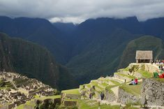 The house of guardians in Machu Picchu, often also called Watchmen's hut