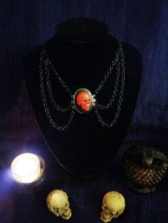 RED SKULL CHOKER necklace