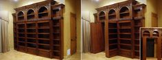 safe room in house | This bookcase has hidden shelves in which one must know the secret in ...