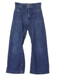 1960's Womens Bellbottom Jeans Pants