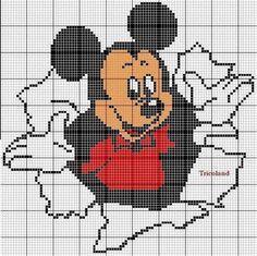mickey mouse en punto cruz - Buscar con Google