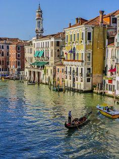 Gondola on the Grand Canal, Venice, Italy