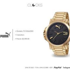 Reloj #Puma para caballero a sólo $2,300 http://instagram.com/clocksrelojes https://www.facebook.com/clocksrelojes https://twitter.com/ClocksRelojes