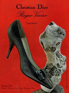 1961 Christian Dior/Roger Vivier print advert