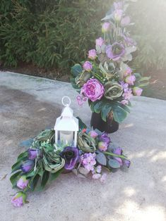 Cmentarz Arte Floral, Center Table, Funeral, Floral Wreath, Projects To Try, Wreaths, Plants, Home Decor, Church Flower Arrangements
