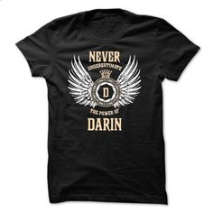 Never Underestimate The Power of DARIN - #checkered shirt #black sweater. I WANT THIS => https://www.sunfrog.com/Names/Never-Underestimate-The-Power-of-DARIN-49996223-Guys.html?68278