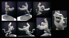 Sculpture of the character of Tai Lung for Kung Fu Panda by Damon Bard, who's been working in the entertainment industry for 20 years, and produces work that's good enough to eat!