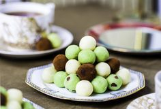 White Chocolate and Coconut Mint Truffles. Because there's no better time to eat chocolate than at Easter, of course.
