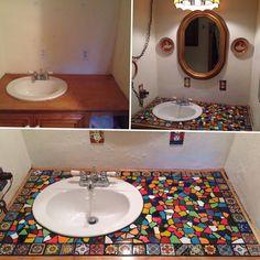 Bathroom flooring: know the main materials to coat - Home Fashion Trend White Mosaic Bathroom, Mosaic Diy, Mosaic Tiles, Bathroom Countertops, Bathroom Flooring, Home Decor Furniture, Vintage Home Decor, Home Decor Inspiration, Interior Design Living Room
