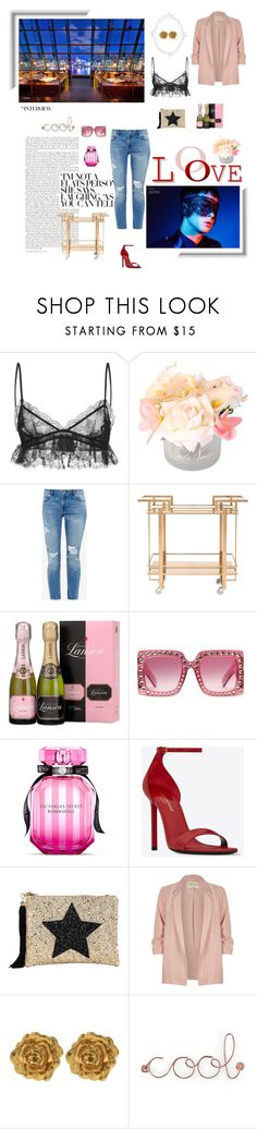 """""""Untitled #757"""" by xocolate ❤ liked on Polyvore featuring Giambattista Valli, Ted Baker, Gucci, Victoria's Secret, Yves Saint Laurent, Lisa Bea, River Island, Liberty and Umbra"""