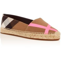 791322f9948e Burberry Women s Hodgeson House Check Espadrille Flats ( 325) ❤ liked on Polyvore  featuring shoes