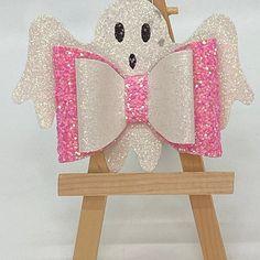 Ribbon Hair Clips, Ribbon Bows, Halloween Hair Bows, Bow Template, Glitter Canvas, Felt Bows, Handmade Hair Bows, Making Hair Bows, Dog Bows