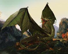 Classic European Green Dragon.  I feel like this some days.
