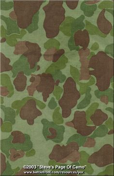 united states green U.S. jungle camouflage 1942-1960