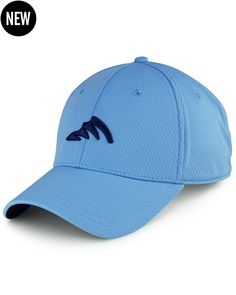 410a1a812b299 Ultra comfortable stretch fit fishing hat constructed from WICKEDHEX  polyester featuring UPF 50+ sun protection