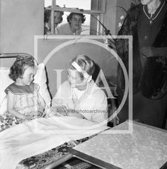 One of most popular visitors to Ireland was Her Serene Highness, Princess Grace of Monaco, formerly Grace Kelly. Here she chats with a young patient in Our Lady's Hospital for Sick Children, Crumlin. Message Bible, Dublin Airport, Prince Rainier, Sick Kids, Prince Albert, Photo Archive, Grace Kelly, Our Lady, Monaco