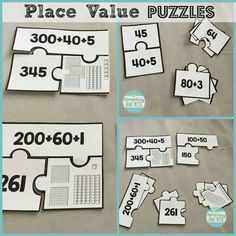 Place value puzzles are one fun math center to help your students master place value!