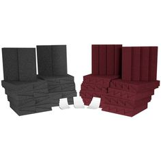 Auralex Room Kit Charcoal & Burgundy Panels – The Soul Lab – Audioroom Studio Gear, Studio Equipment, Acoustic Room Treatment, Bass Trap, Audio Room, Classic Series, Small Studio, Charcoal Color, All In One
