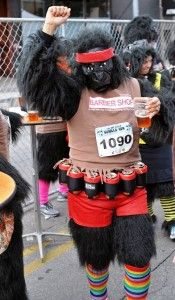Going bananas: Third annual Gorilla Run 5k returns to the streets of Austin this weekend. The event is held to raise money for the Mountain Gorilla Conservation Fund (MGCF), an international charity working to save the endangered mountain gorillas in Uganda.