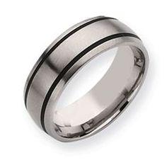 Daniels Jewelers :: Titanium Black Enamel Wedding Band