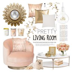 """""""Pastel Home Decor"""" by palmtreesandpompoms ❤ liked on Polyvore featuring interior, interiors, interior design, home, home decor, interior decorating, Kim Salmela, Squarefeathers, JAG Zoeppritz and Global Views"""