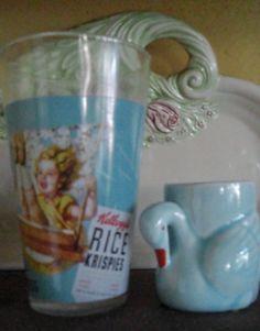Blue breakfast vintage eggcup