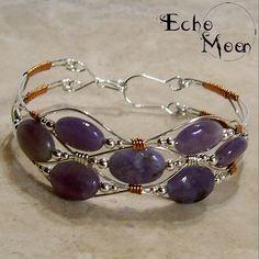 Silver Lepidolite Bracelet by *EchoMoonJewelry on deviantART