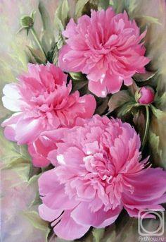 Piones Flowers, Peony Flower, Flower Art, Peony Painting, Watercolor Flowers, Watercolor Paintings, Fruit Art, Botanical Prints, Beautiful Roses