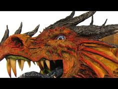 don't want to make a dragon, but there are some amazing techniques shown in this video that will help me greatly with the papier mache projects that I do have! Paper Mache Projects, Paper Mache Clay, Paper Mache Crafts, Paper Mache Sculpture, Sculpture Art, Art Projects, Elephant Sculpture, Dragon Head, Dragon Art
