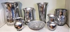Silver Mercury glass.
