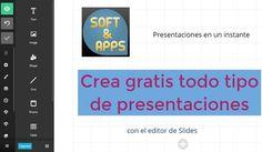 Slides es una aplicación web gratuita para crear presentaciones online, luego podemos compartirlas a través de internet y las redes sociales.